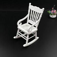 weiß holz schaukel stuhl für 1 12 puppe haus miniatur s2c6 wohnzimmer x0c0 ebay