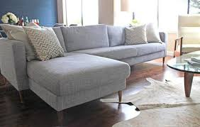 Cb2 Piazza Sofa Craigslist by Ikea Sofa Hack Using Home Depot Midcentury Legs From