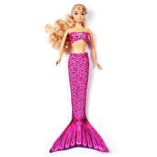 Malibu Pink Fashion Doll Tail Set Fin Fun Mermaid Tails For Dolls