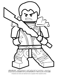 Ninjago Jay KX In Elemental Robe Coloring Page