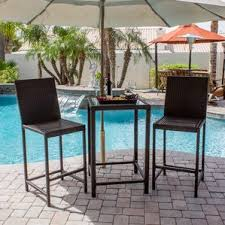 3 Piece Bar Height Patio Bistro Set by Bar Height Patio Sets Wayfair