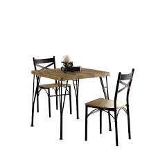 Industrial Style 3 Piece Dining Table Set Of Wood And Metal, Brown ... European Style Cast Alinum Outdoor 3 Pieces Table And Chairs Piece Tasha Accent Side Set The Brick Zachary 3piece Occasional By Crown Mark Fniture Amazoncom Winsome Wood 94386 Halo Back Stool Kitchen Ding Sets Piece Table Sets Coaster Sam Levitz Obsidian Pub Chair Gardeon Wooden Beach Ffbeach Winners Only Broadway With Slat Tms Bistro Walmartcom 3piece Drop Leaf Beige Natural Bernards Ridgewood Dropleaf Counter Wayside