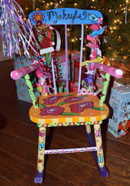 Custom Order-hand Painted Antique Rocker From Luckie HeART ...