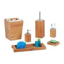 relaxdays badezimmer set bad set bambus 6 teilig otto