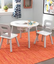 Look At This #zulilyfind! KidKraft Gray & White Three-Piece Round ... Kids Round Table Set Tyres2c Children39s White And Chairs Personalized Play Hayneedle Best Rated In Chair Sets Helpful Customer Reviews Springs Hottest Sales On Kidkraft Storage 2 Kidkraft Bench Fresh Star And Shop Avalon Ii Free Shipping Exciting Kitchen Card Gumtree Small Rattan Multiple Colors Pink Farmhouse Beautiful New Sturdy Table With Four Chairs Beyondborders 15 Benches For Child S Wooden