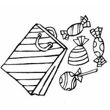 Gift Bag With Candies Coloring Page