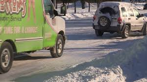 100 Truck Crashes Video In To Suv On Icy Winter Snow Covered City Street Stock