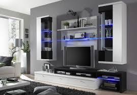 swantje wohnwand weiss applikation schwarz hochglanz tv