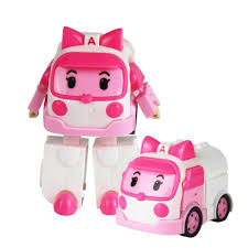 100 Pink Fire Truck Toy Super Wings Deformed Robot Classic Plastic Conversion S