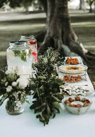 Mason Jars Table Decor Outdoor Wedding Dessert With Jar Beverage Dispenser