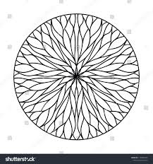 100 Natural Geometry Circular Ornament Flowing Lines Stock Vector