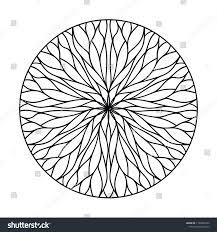 100 Natural Geometry Circular Ornament Flowing Lines Stock
