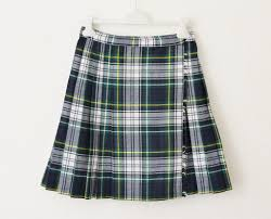 60s 70s plaid skirt wrap around green blue tartan wool high