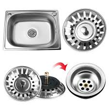 Blanco Sink Strainer Plug Uk by 2pcs Kitchen Stainless Steel Waste Plug Sink Drain Stopper Basket