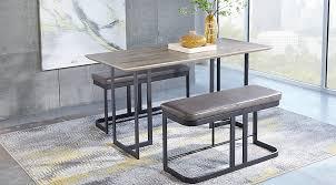 Jansen Gray 3 Pc Counter Height Dining Set
