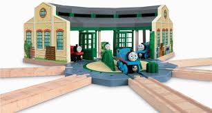Thomas Tidmouth Sheds Mega Bloks by Thomas U0026 Friends Wooden Railway Tidmouth Sheds