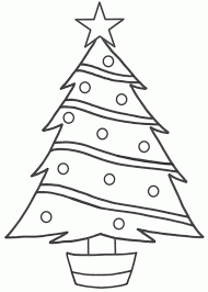 Christmas Tree Drawing Easy For Kids Step By
