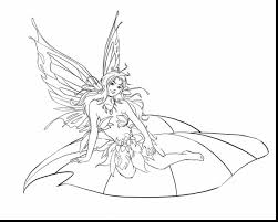 Marvelous Fairies Coloring Pages For Kids Printable With Fairy And