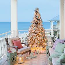 Seashell Christmas Tree Skirt by Swoon Worthy Christmas House Tour Christmas Houses House Tours