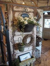 This Is A Gorgeous Way To Use An Old Door As Shop Display