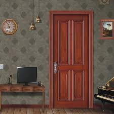 USD 140163 Amoy American Rural Malaysia Teak Wood Door Styling