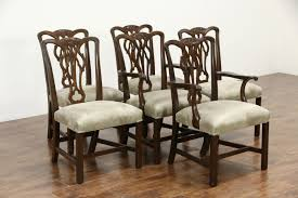 Georgian Dining Room by Kittinger Signed Set Of 6 Vintage Mahogany Georgian Dining Chairs