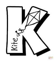 Click The K Is For Kites Coloring Pages To View Printable