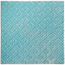 salvaged turquoise rosette tin ceiling tile by bci crafts http