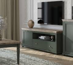 lowboard evora tv unterschrank 181cm grün eiche lefkas landhaus stil