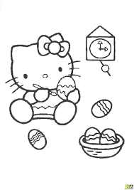 Nouveau 21 Coloriage Hello Kitty Paques A Imprimer Classic Work