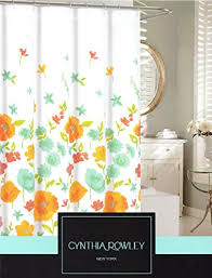 Cynthia Rowley New York Window Curtains by Cynthia Rowley Botanical Nature Cotton Shower Curtain Floral Poppy