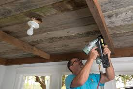 How To Install A Reclaimed Wood Ceiling Treatment | How-tos | DIY True American Grain Reclaimed Wood Decor Tips Exterior Design Of Pole Barn Houses With Garage Wall Treatment For Peeves Local Market Materials Red Faux Door Cottage In The Oaks Diy Herringbone Treatment And A Giveaway Piastra Modern Twist On Textured Walls Best 25 Wood Fireplace Ideas On Pinterest Unique Barn Stunning House Siding Types And Custom Doors Sliding Hdware Custmadecom Most Companies That Sell Old Have Already Ppared