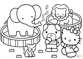 Click The Hello Kitty Zoo Coloring Pages To View Printable