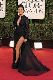 Evening Dresses Red Carpet by Eva Longoria Golden Globe Red Carpet Black Lace And Chiffon