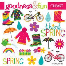 Buy 2 Get 1 FREE Springtime Spring Clipart Digital