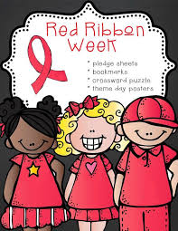 ARTrageous Fun Red Ribbon Week Just Say No Activities Pledge Cards Bookmarks