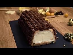bûche glacée au chocolat nestlé dessert amande agrumes et
