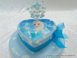 Disney Frozen Elsa Heart Shaped Cake As Cold as Ice