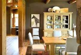 Rustic Dining Room Table And Hutch Dinning With Hu On Corner