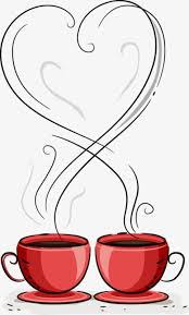 Hand Painted Decorative Love Red Coffee Cup Clipart