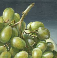 Grape Decor For Kitchen by Green Grape Painting Original Acrylic Painting Still Life Of