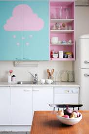 Pink And Blue Kitchen Decor Purple Colors Adding Retro Vibe To Modern