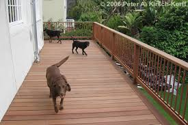 Modern Mangaris Wood Deck