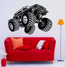 100 Monster Truck Wall Decals Vinilos Parede Decal Vinyl Sticker For