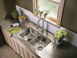 kitchen rubbed bronze kitchen faucet with stainless sink