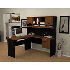 bestar innova homepro 92000 l shaped desk tuscany brown black