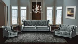 Tufted Velvet Sofa Set by Armen Living 3 Piece Barrister Velvet Sofa Set Usa Furniture