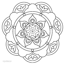 Rangoli Pattern Coloring Pages
