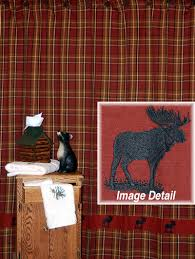 Northwoods Moose Rustic Shower Curtain Cabin Place
