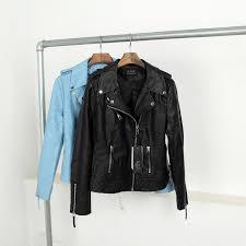 newest autumn winter fashion street women u0027s pu faux leather jacket